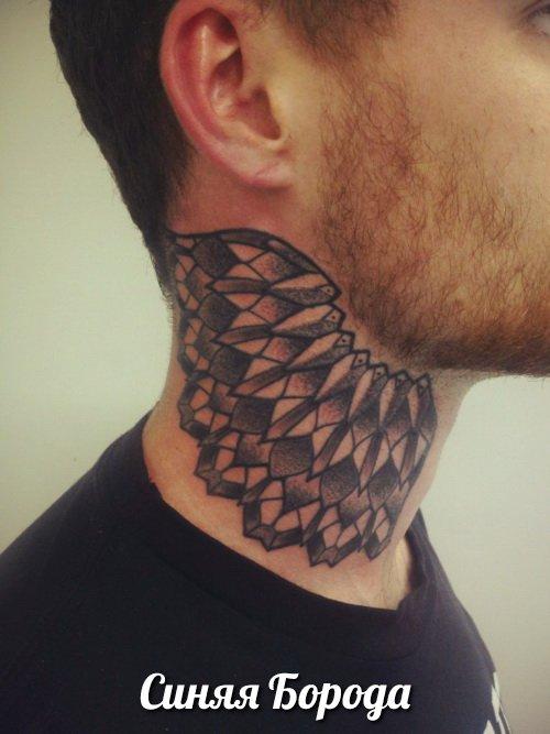 Татуировка на шее каталог