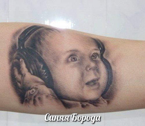 Фото ребенка тату на руке